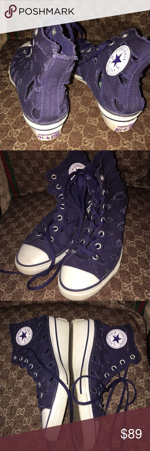 Authentic ladies converse😘😘😘 Like new... Tv higher Converse Shoes Heeled Boots