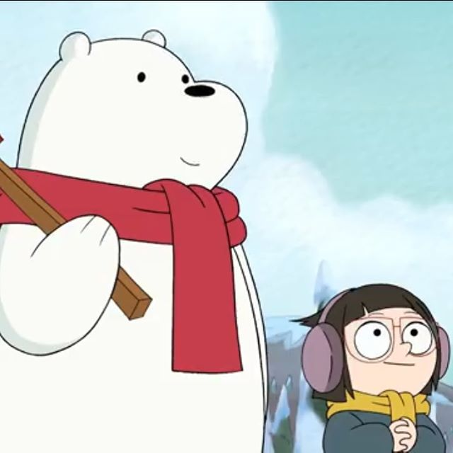 Merry Christmas This Is So Precious I Can T Webarebears Icebear Chloepark Cute Christmastree Song Cartoonnetwork We Bare Bears Bare Bears Ice Bears