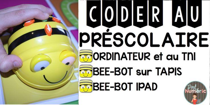 Coder au préscolaire avec Bee-Bot. Programmation d'actions pour contrôler l'abeille programmable. #hourofcode #apps #EdTech