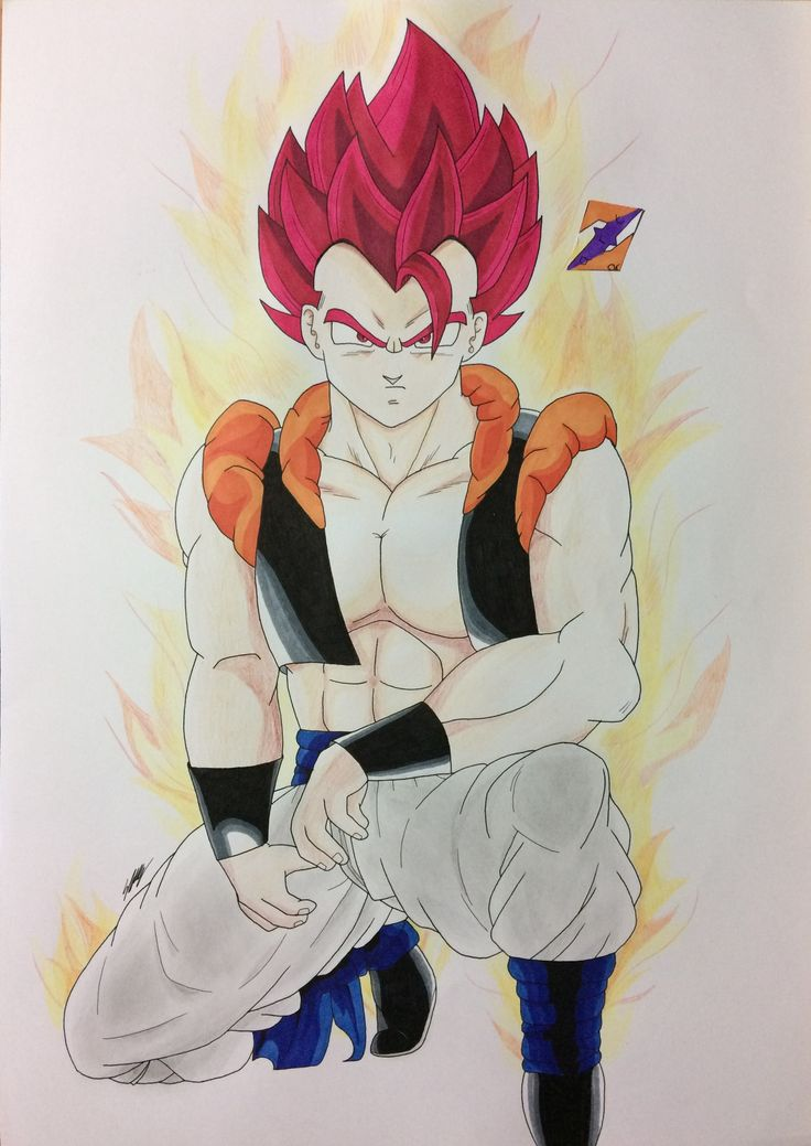 SSJ God Red Gogeta fanart from Dragon Ball Z: Fusion Reborn by ZorArt