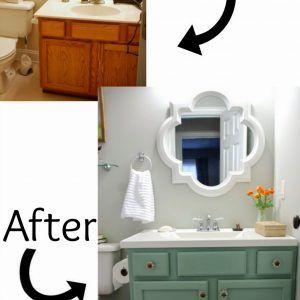 Make Bathroom Vanity Look Like Furniture