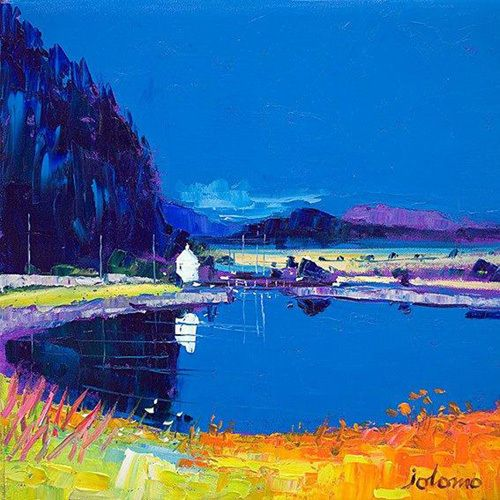 Dunardry Reflections, Crinan Canal Art Print by John Lowrie Morrison - WorldGallery.co.uk