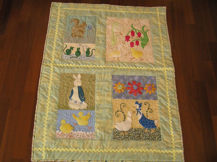 Adapted from Nursery Friends - a pattern by Michele Hill  in the book More William Morris Applique