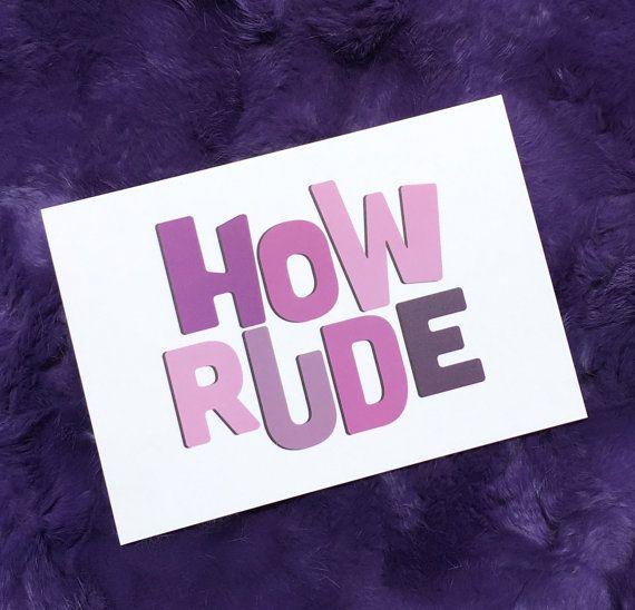 How Rude Full House Postcard