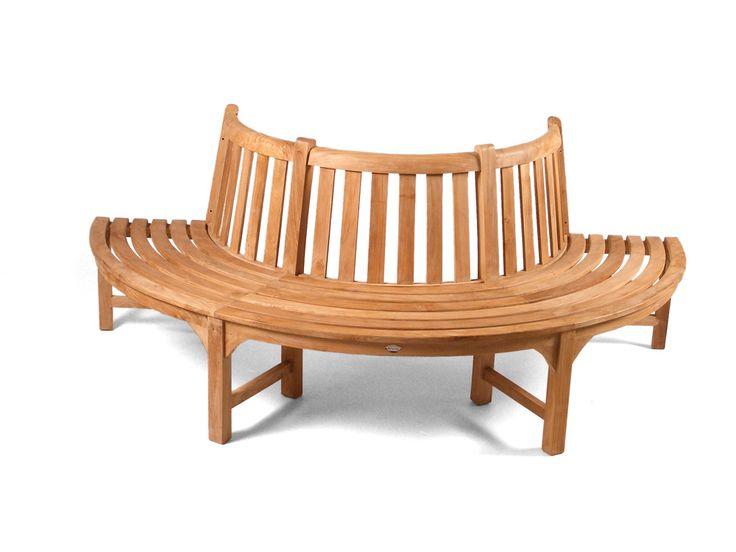 half tree seat teak bench grade a teak furniture - Teak Bench