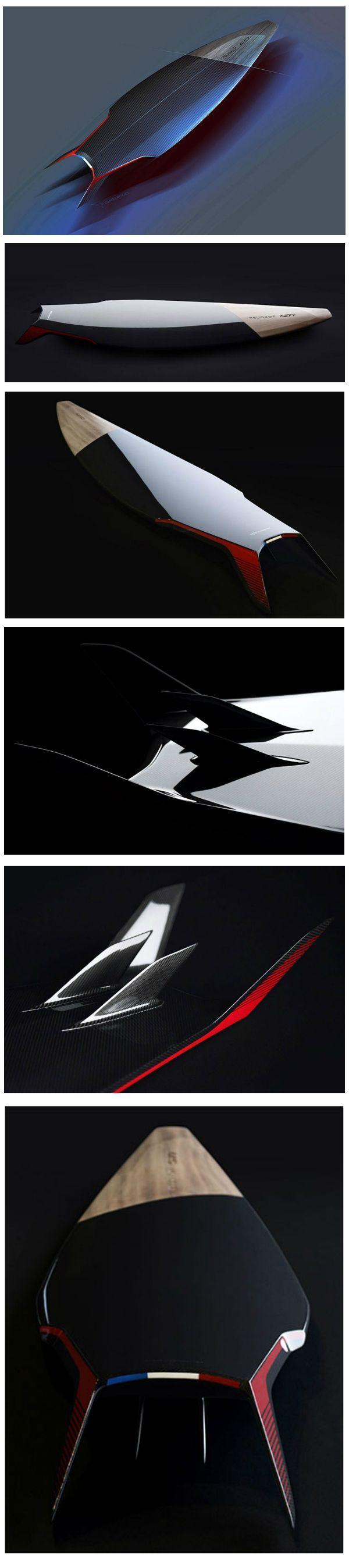 Carbon Surfboard Design by Peugeot