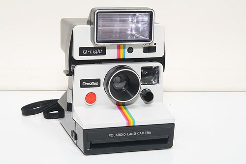 Polaroid One Step SX-70 - With Matching Q-Light Flash | Flickr