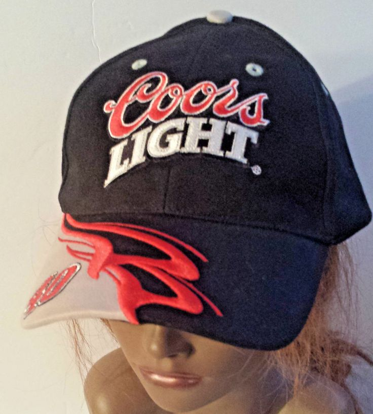 COORS LIGHT STERLING MARLIN 40 NASCAR RACING CAP HAT Black Red Adjustable #WinnersCircle