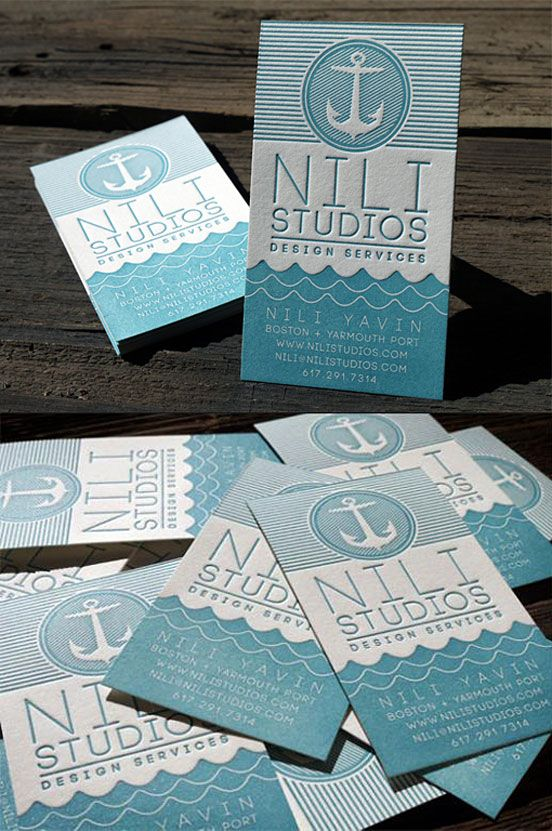 115 best business cards images on pinterest business cards brand nautical themed letterpress business card reheart Image collections