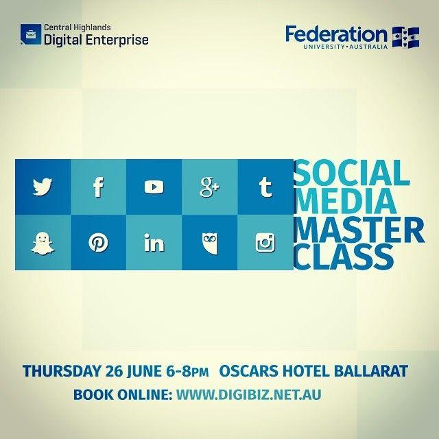Social Media Masterclass - Online Banner #socialmedia #digibiz #feduni