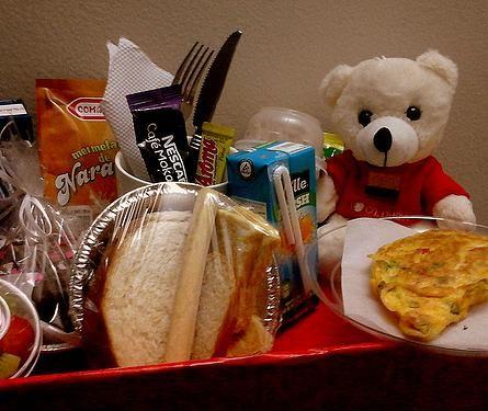 Desayuno romántico aniversario