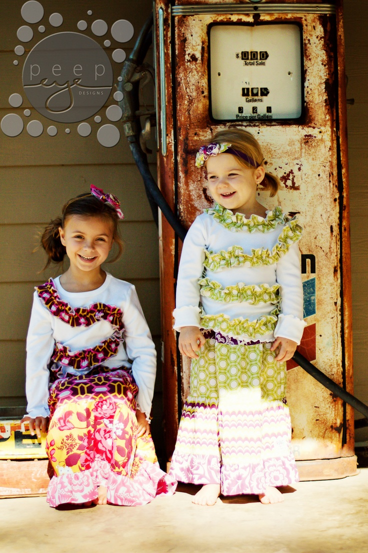 the.jill.frock ($36.00) and emma.rufflers ($28.00) by @Jamie Dollar and @Jennifer Townsend at cotton.patch.kids, photography and headbands by @Shea Parker at peepeye designs.