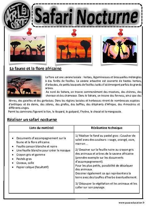 Safari Nocturne – Ce1 - Ce2 – Cm1 – Cm2 – Arts visuels – Cycle 3 - Pass…