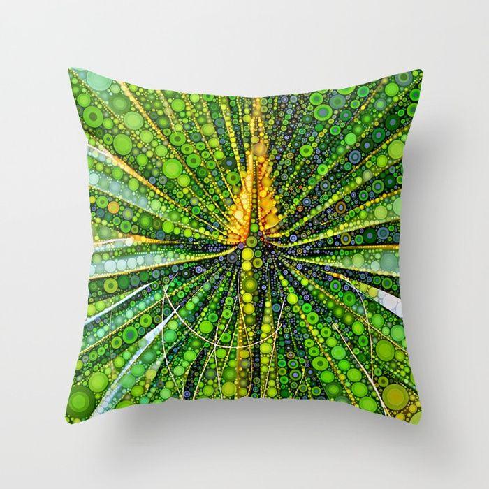 Mexican Fan Palm Leaf Throw Pillow