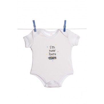 For the new mom: http://www.dannabananas.com/i-m-new-here-baby-bodysuit/