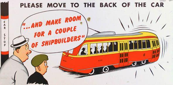 ttc subway cards advertisements shipbuilders