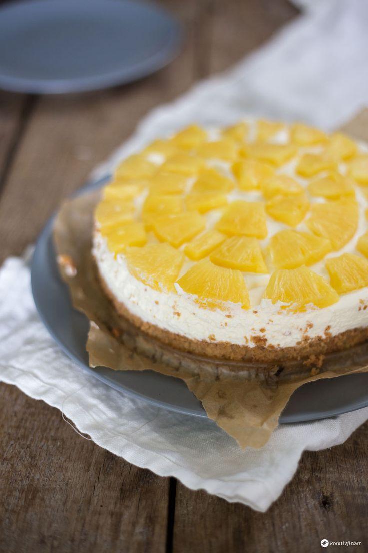 Ananaskuchen mit Nussboden - klassischen Obstboden backen - Rezeptidee von Kreativfieber