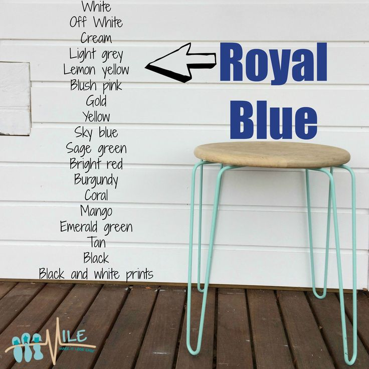 Royal blue goes with...