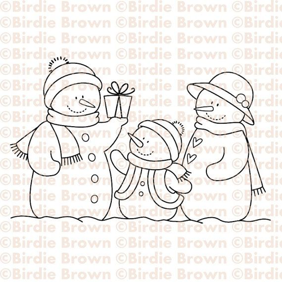 Digital stamp -- Snowmen Family                                                                                                                                                                                 Más                                                                                                                                                                                 Más