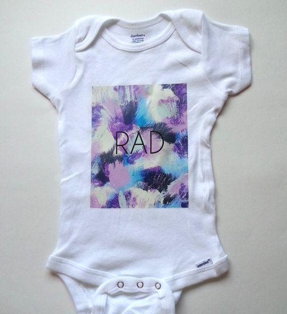 Rad baby onesie for newborn and babies 0-3 months by StarrJoy16