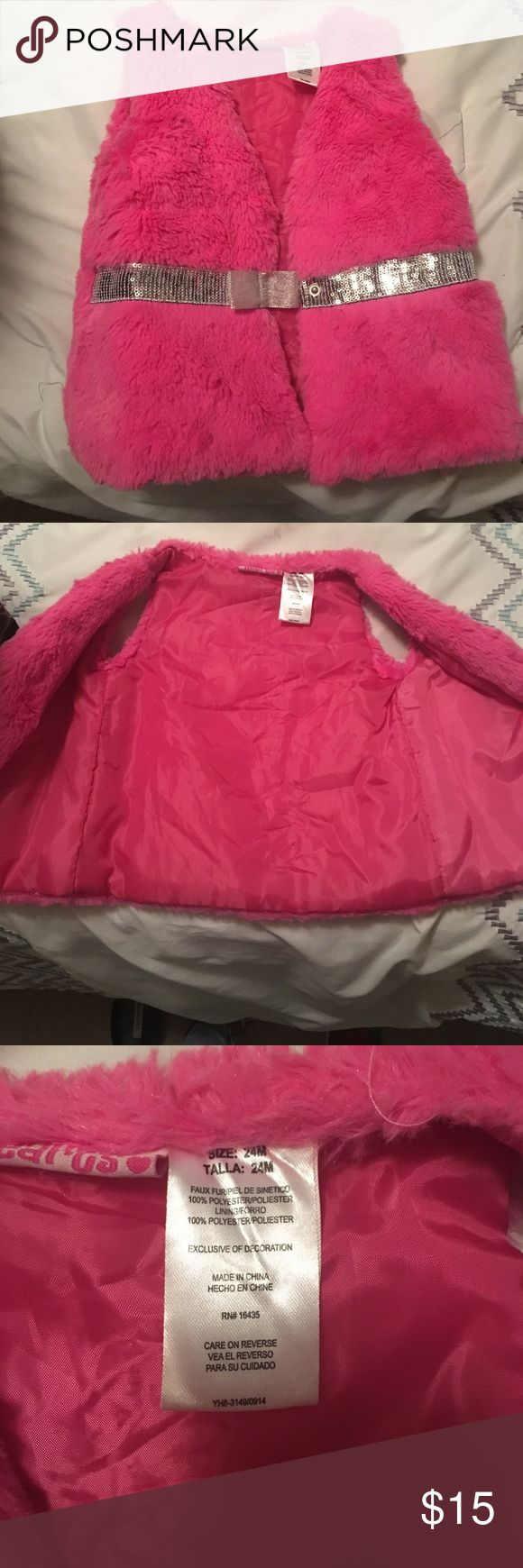 Furry pink vest size 24 months. This beautiful pink furry vest has barely been worn. No stains or rips. EUC. Other