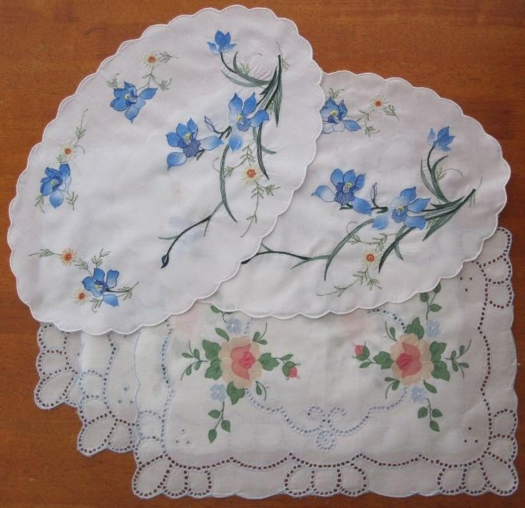 Two Sets of Vintage Replica Embroidery/Applique in Antiques, Textiles, Linens, Lace, Crochet, Doilies | eBay SELLER ID: kathy_a1Two Sets of Vintage Replica Embroidery/Applique