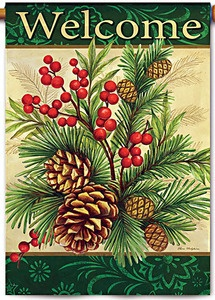 Winter Pine Decorative Garden Flag | EBay
