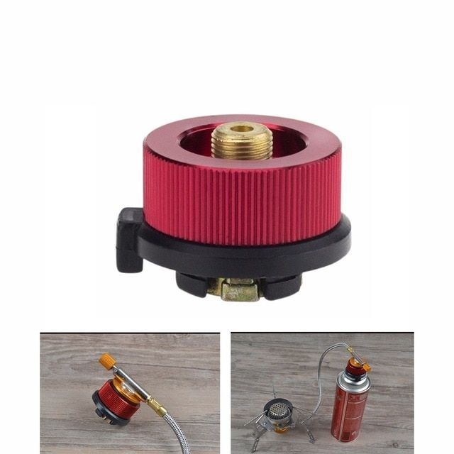 1 Pieces Camping Burner Valve Flat Gas Tank Control Valve Propane Switch Adapter