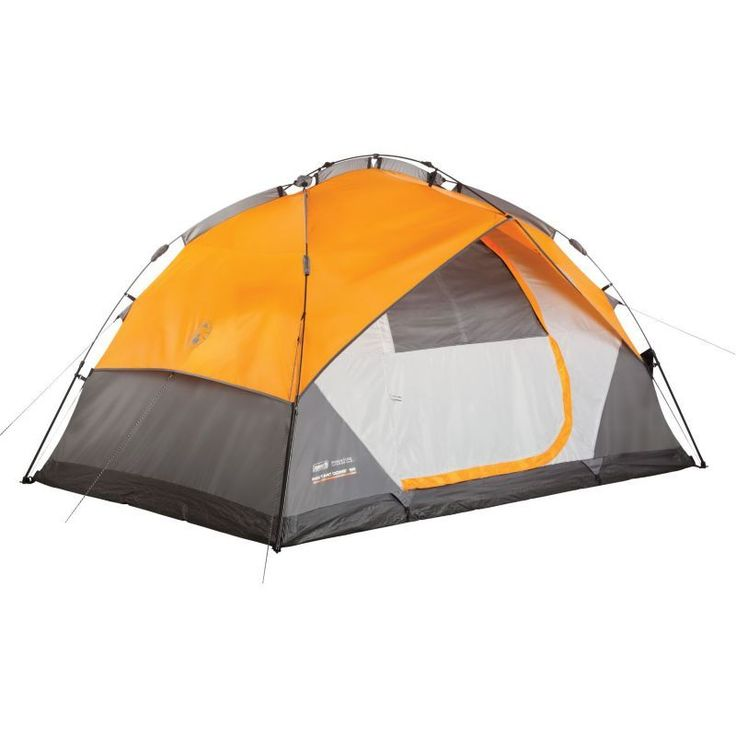 Coleman Instant Dome 5 Person Tent with Integrated Fly, Orange