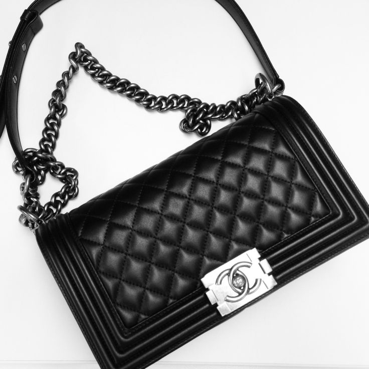 I need this bag! Ultimate wishlist. Black with silver details. Medium or large. Boy. Ahhh!