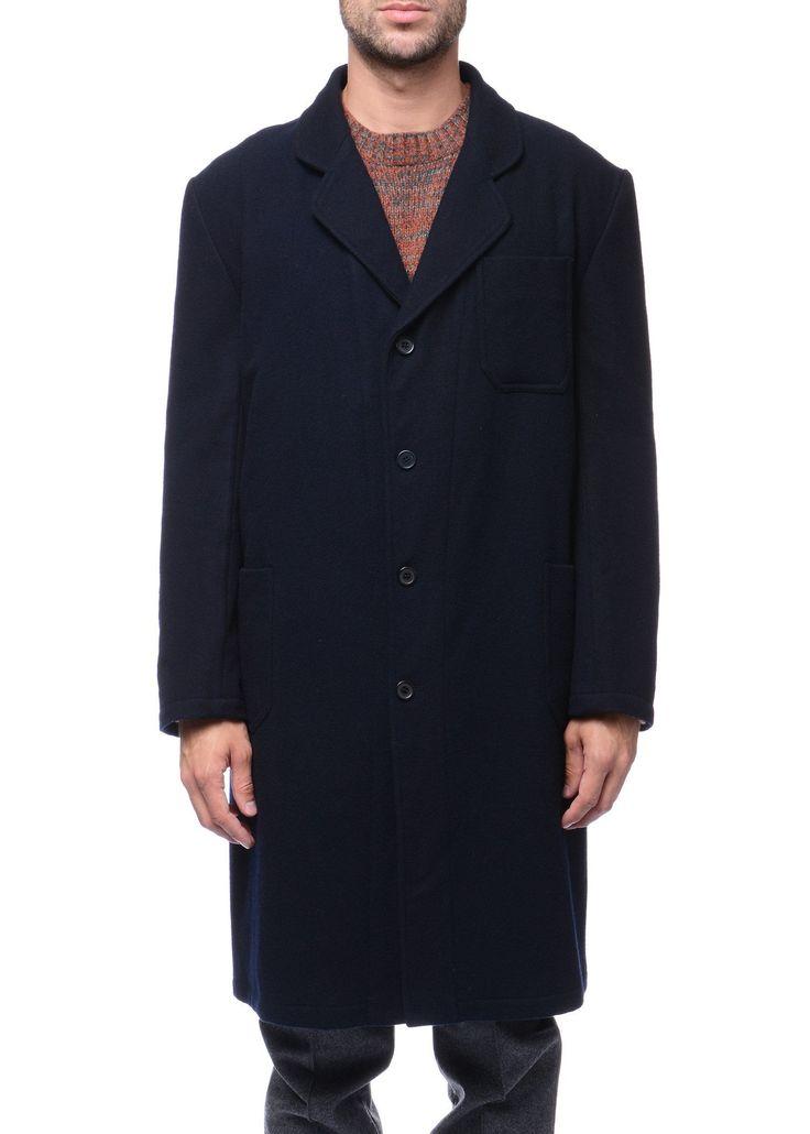 Federico Curradi - FW16- Menswear // Navy overcoat in wool