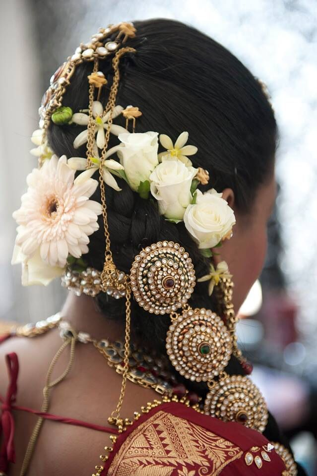 Modern South Indian bridal hairstyle