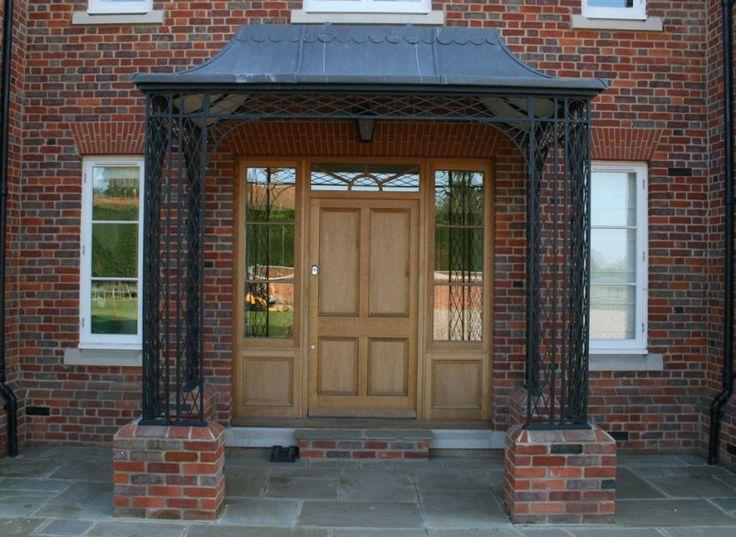 porches verandas canopies verandahs in wrought iron metal copper - Brick Canopy Ideas