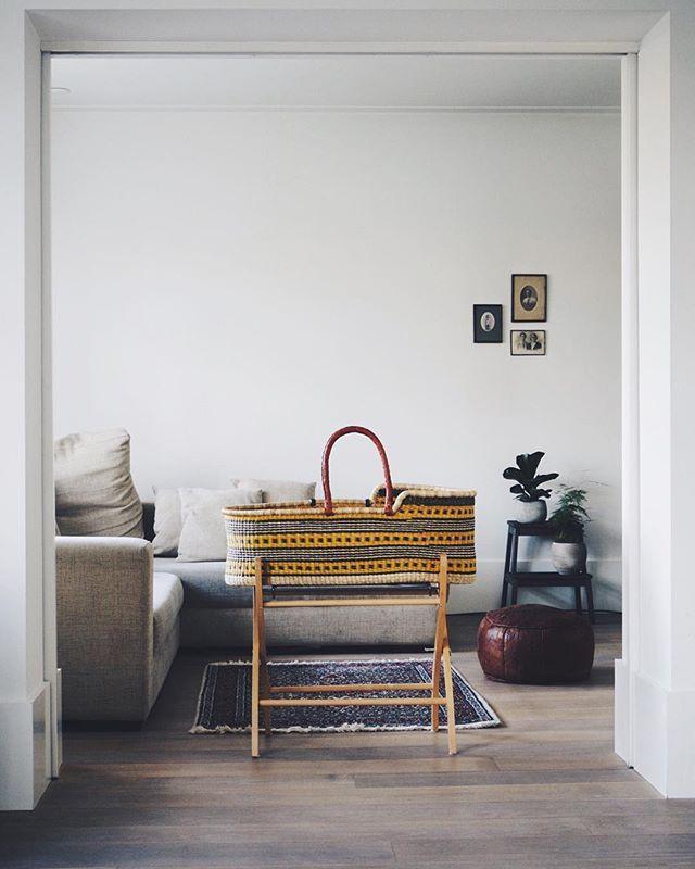 Handmade moses basket from Ghana. Thekindlabel.com