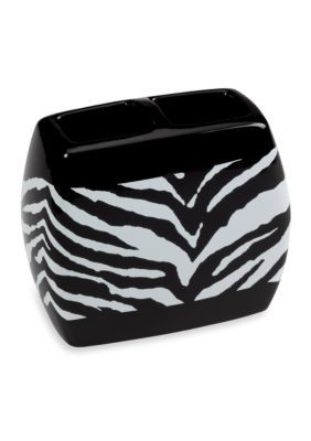 Creative Bath BlackWhite Zebra Toothbrush Holder