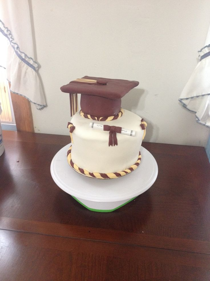 Maroon and gold graduation cake | My cakes :) | Pinterest ...