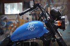 Neelchakra ~ AVL Thunderbird in Cerulean Blue by Eimor Customs | 350CC.com