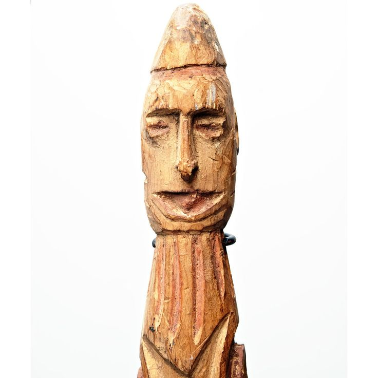 Very Old and Powerful Asmat Ancestor Figure Boat Shaped Carved Totem -New Guinea