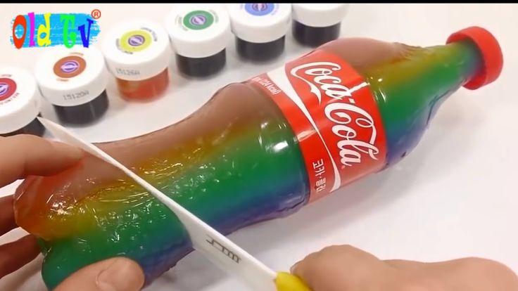 Цветная Кола Желейная Кока как разрезать на кусочки Old Tv !