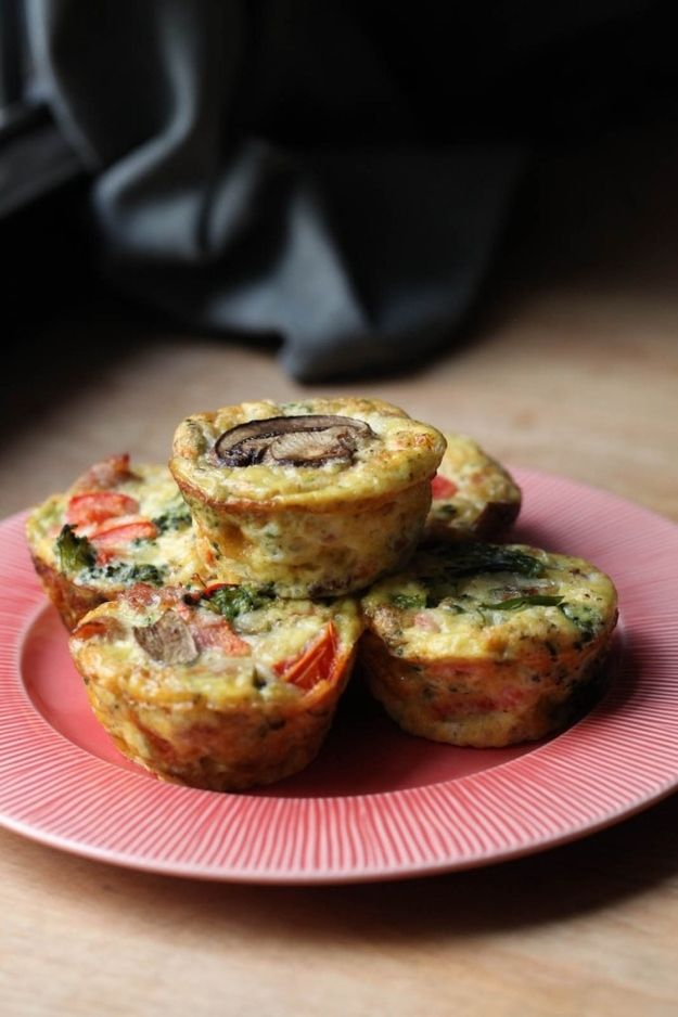 Make these egg muffins in advance, freeze them, and microwave one in the morning.