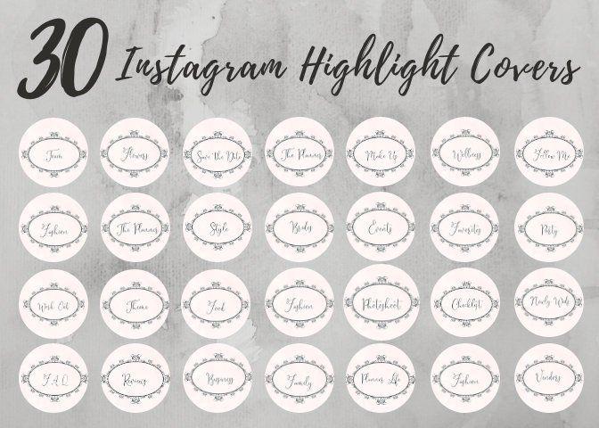 30 Instagram Story Highlight Icons Vintage Frame Icon Covers Etsy In 2020 Instagram Story Icon Story Highlights