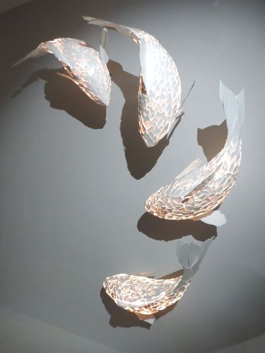 Gehry Fish Lamp, made from ColorCore