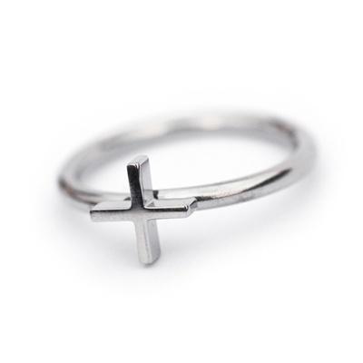 Stainless Steel Silver Faith Ring by Edblad.  www.antori.com
