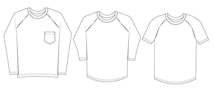 48 best Mens Raglan shirt PDF sewing pattern images on Pinterest ...