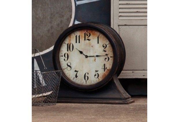 Large Mantel Clock - From Antiquefarmhouse.com - http://www.antiquefarmhouse.com/current-sale-events/tavern/large-mantel-clock.html
