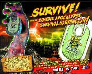 Zombie Apocalypse Survival Kit in a Sardine Can http://amzn.to/2hbJ2zY #awesome  #survival #weapons #gift