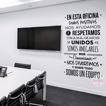 VINILO DECORATIVO REGLAS DE OFICINA W425