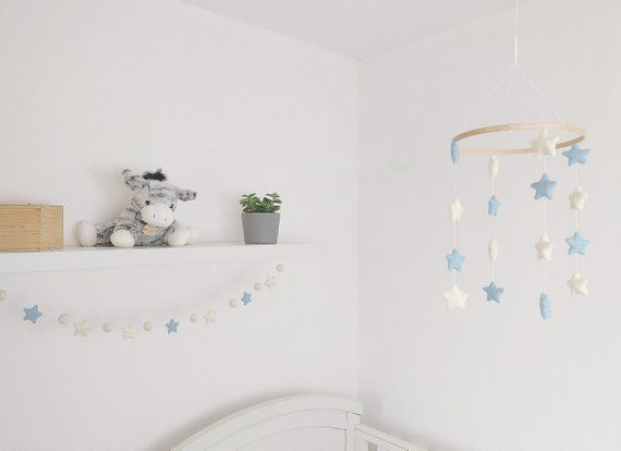 Blue Nursery Baby Mobile