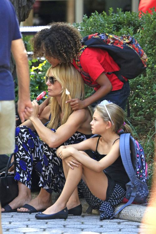 Heidi Klum & Kids: Picnic In Central Park