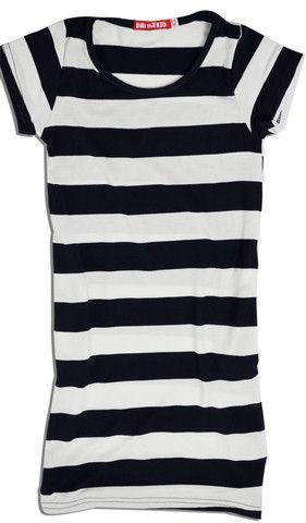 little girls striped sailor dress
